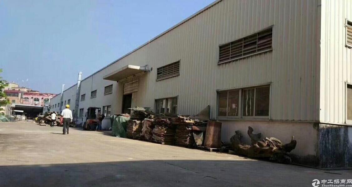 大岭山靠近深圳原房东分租钢构厂房3680平方9米高