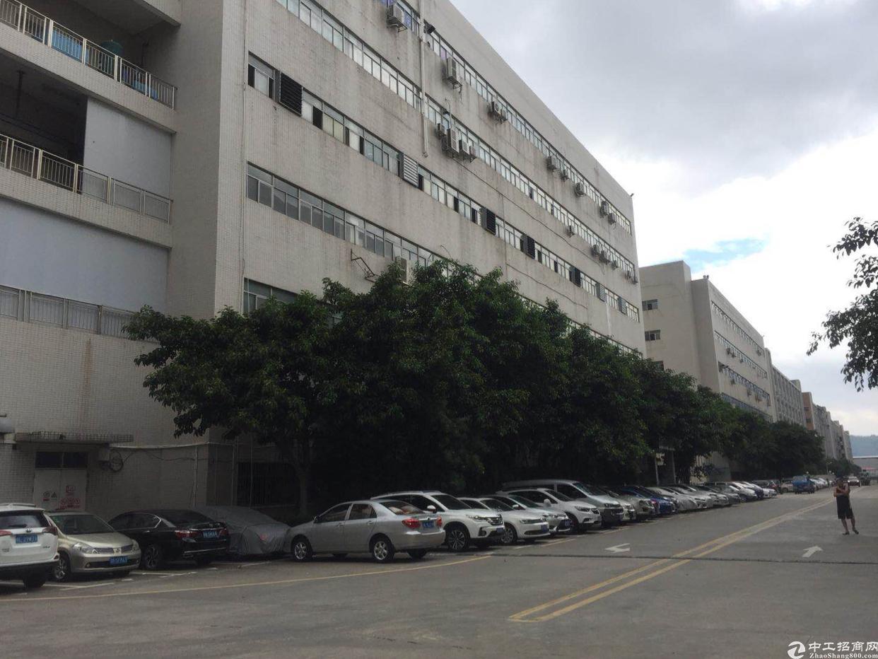 西乡鹤洲沈海高速出口 大型工业园内楼上2800平带装修出租