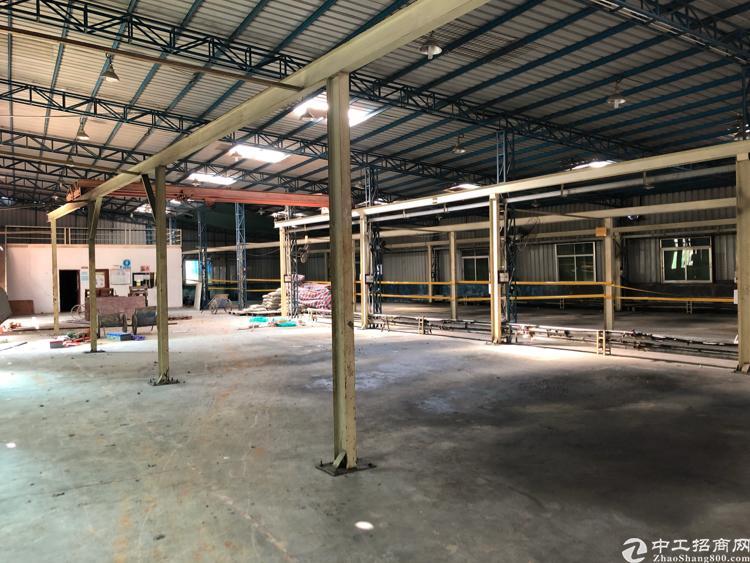 横岗六约一楼钢结构厂房带行车1000平米招租