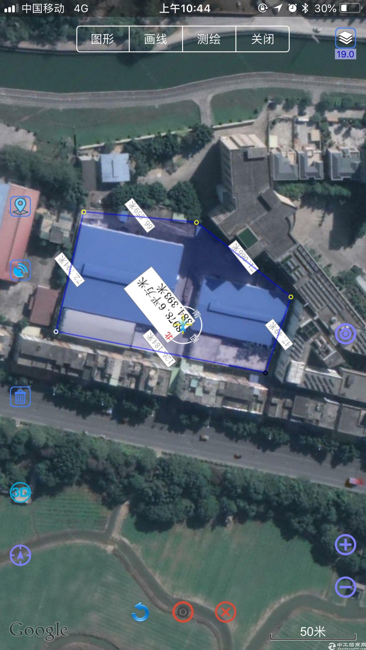 谢岗镇700万40年年限村委合同厂房出售 1、占地面积: 4