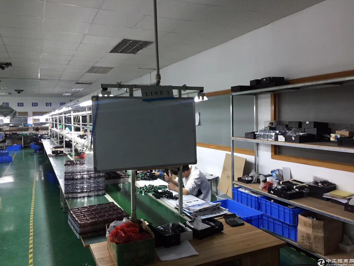 福永大洋田福安工业城楼上850平米精装修厂房