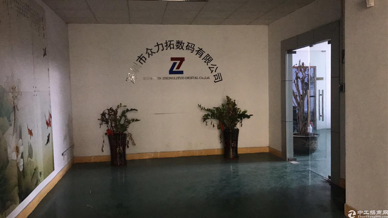 福永宝安大道地铁口旁新出楼上750平原房东厂房出租