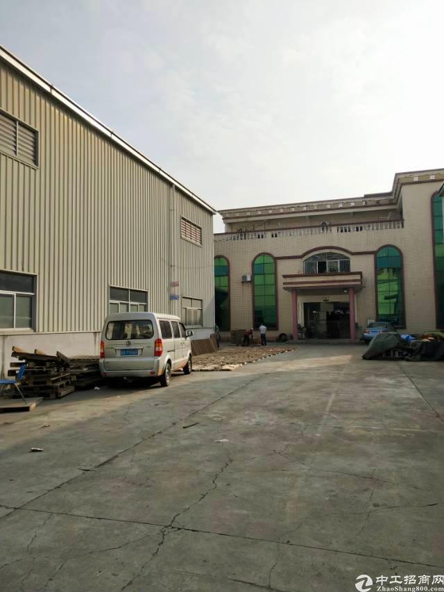 大岭山镇原房东9米高钢构带办公楼独院厂房优惠出租