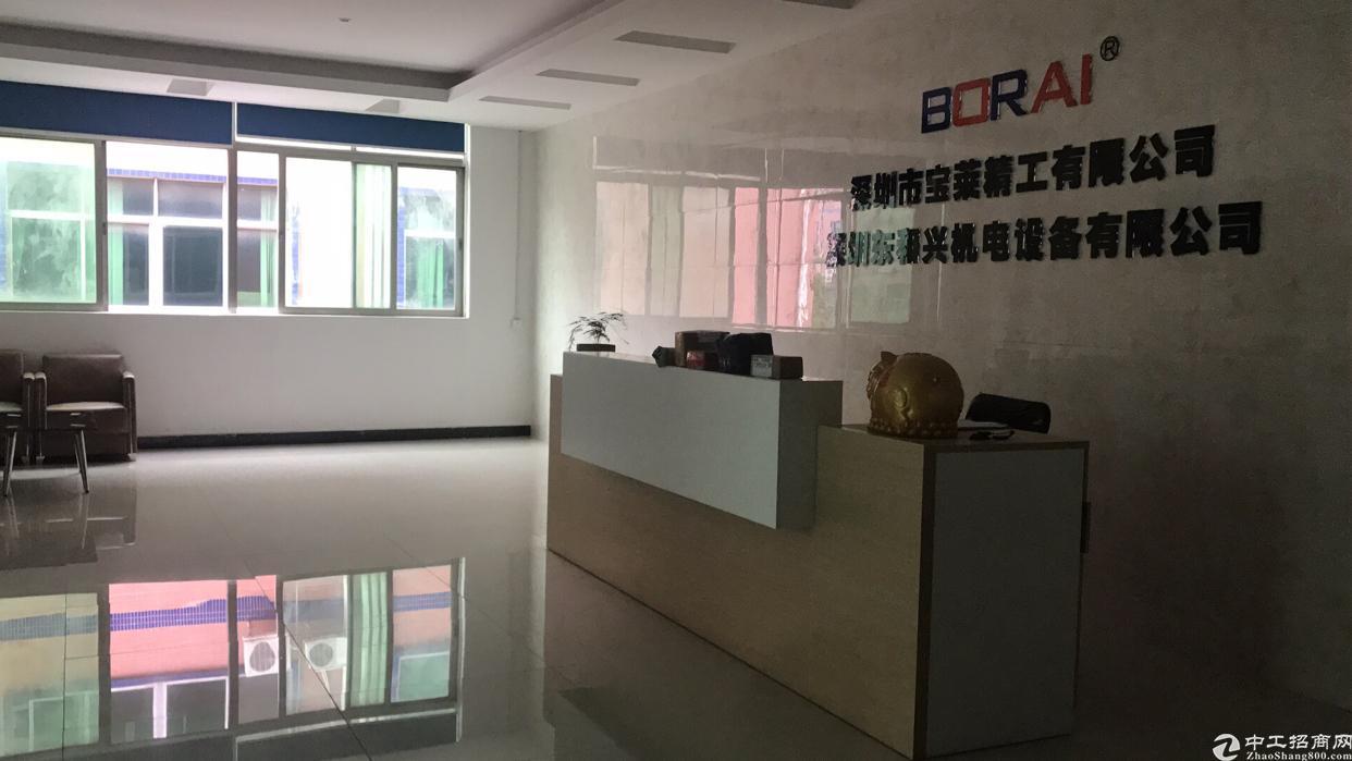 福永宝安大道地铁口旁新出楼上原房东带装修无转让费厂房出租