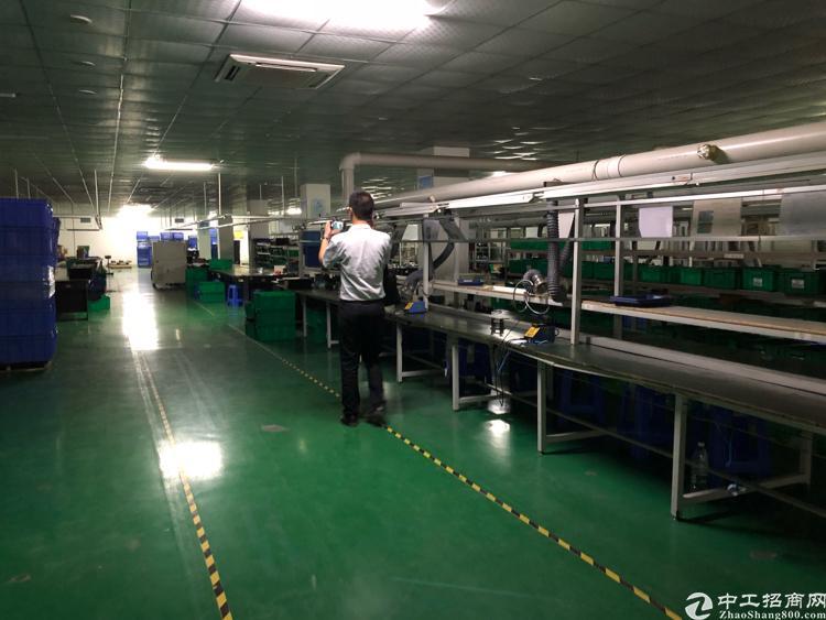 福永和平大型工业区新出楼上整层1600平米原房东厂房出租