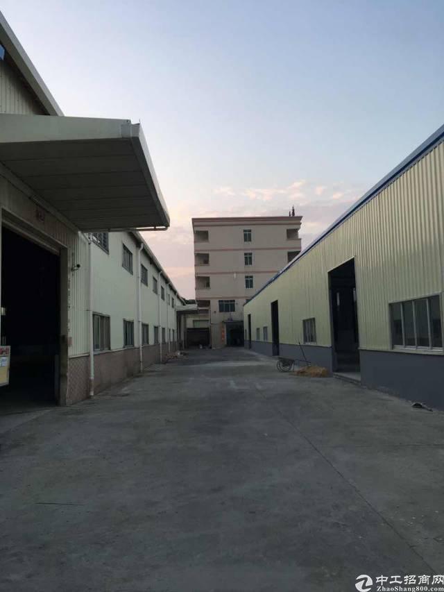 横沥田饶步工业园滴水8米钢构厂房300平起招租