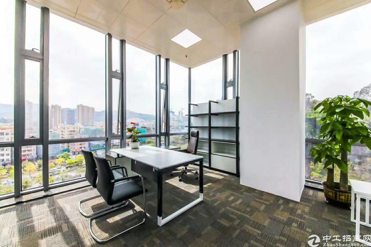 龙岗布吉花园式甲级办公室出租,精装修,2360平,大小分租