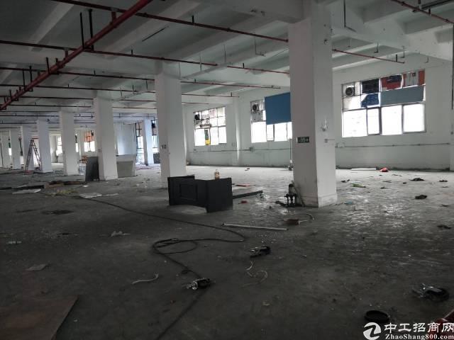 西乡银田工业区楼上2600元标准厂房出租带消防喷淋