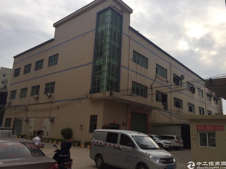 公明将石工业区内三层独院厂房6300平米出租。
