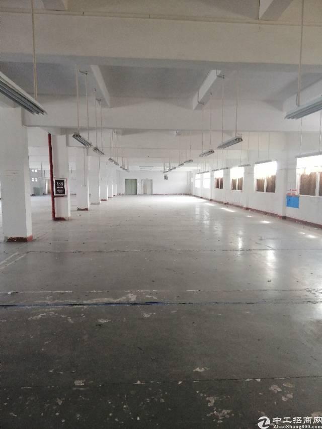 黄江镇太子酒店附近楼上2125平米标准厂房出租