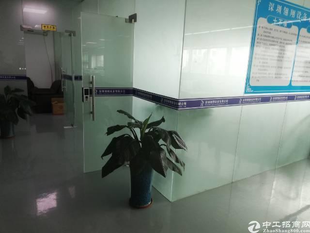 沙井后亭地铁口新出楼上整层2200平精装厂房出租-图4