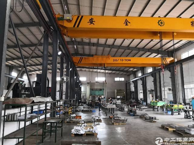 茶山镇东部快速附近九成新单一层独院厂房带行车2300平方出租
