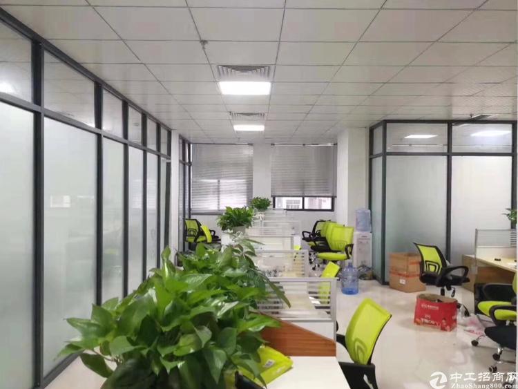 龙华龙胜地铁口精装修办公室600平招租