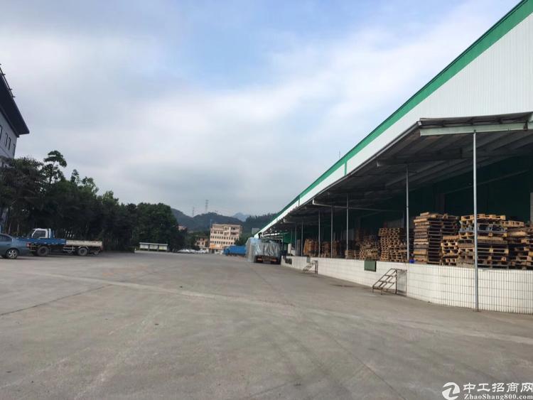 凤岗镇竹塘村新出物流仓单一层钢构23000平,带卸货平台