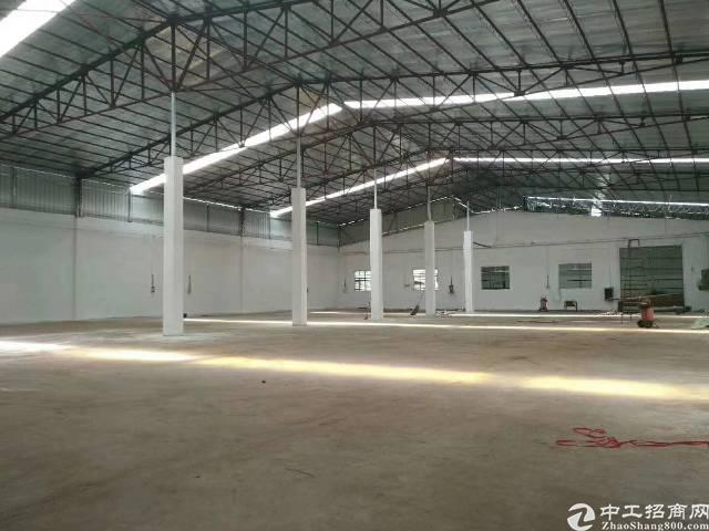 东莞高埗镇独院厂房3400平 高8米 单一层铁皮房3100平