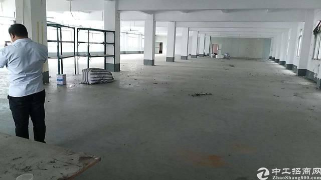 黄江镇楼上1500平标准厂房出租