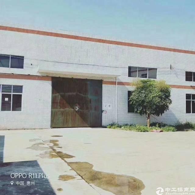 惠阳新圩高速出口边独门独院钢构厂房5400平方米滴水8米