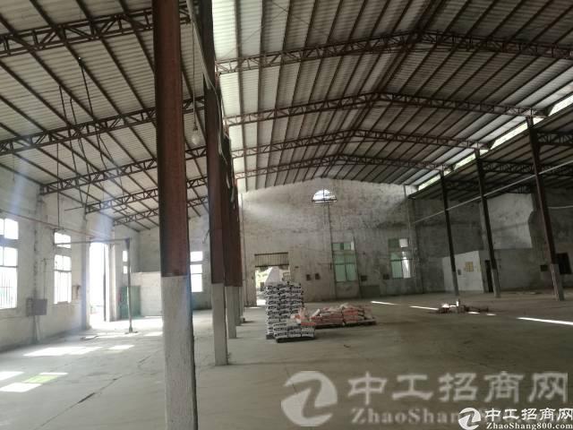 原房东出租厚街双岗2000平砖墙到顶单一层钢结构厂房,可分租