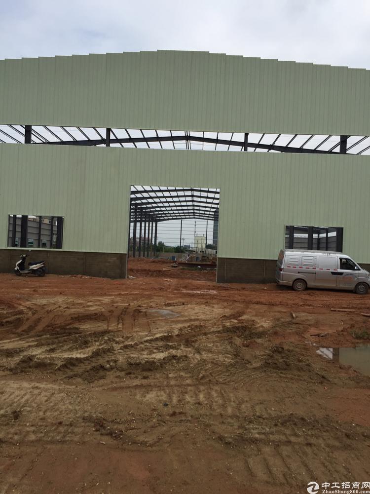 博罗新建单一层滴水9米厂房8500方可分租