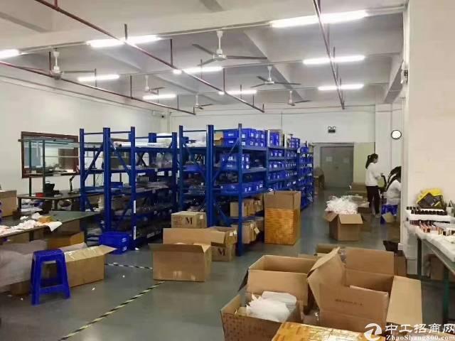 沙井107国道边高新科技大厦楼上880平方厂房招租