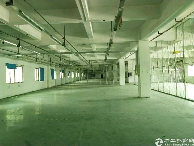 黄江镇高速路口附近楼上新空出1250㎡带装修厂房出租!!!