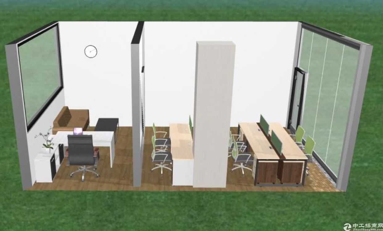 中央大道旁全新精装修带平台花园写字楼   仅租70元