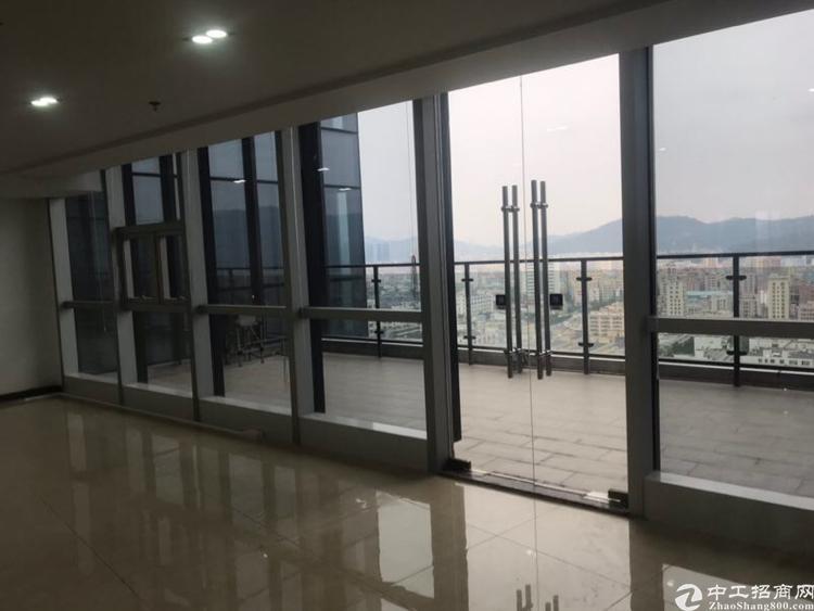 福永凤凰立交精装修写字楼573平方,带双阳台