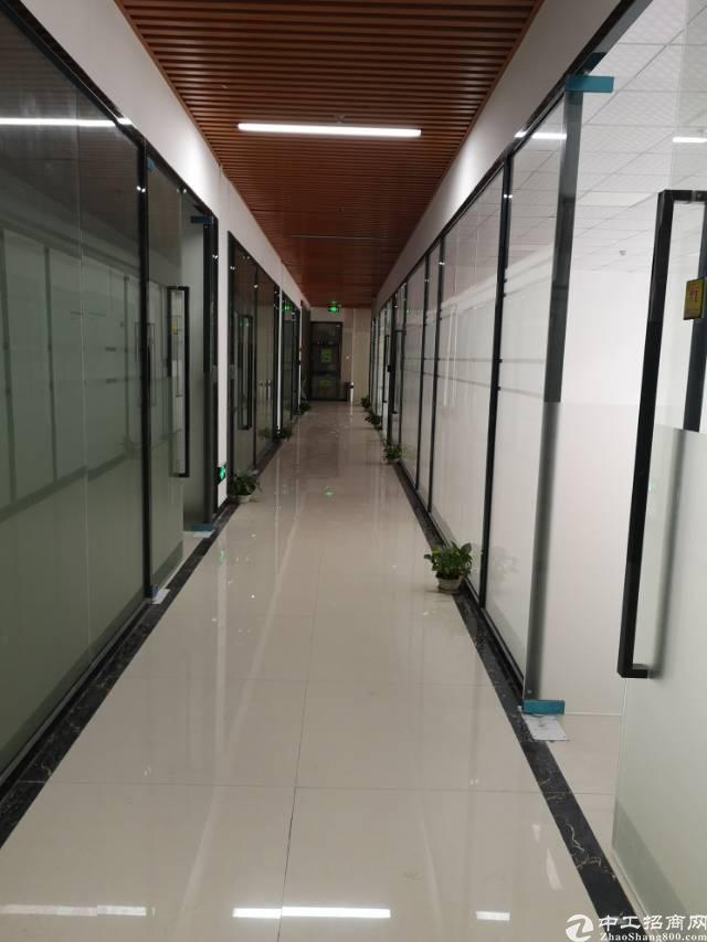 观澜竹村地铁站口附近精装修办公室1万平方大小46平方起分租