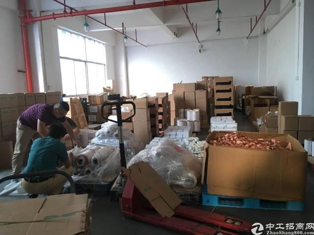沙井庄村商业街旁工业园有楼上680平带装修厂房出租-图2