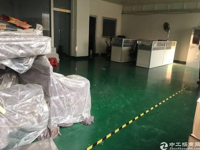 沙井庄村商业街旁工业园有楼上680平带装修厂房出租-图3
