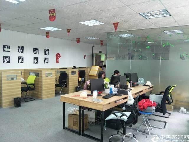 民治地铁口电商园新出精装修办公室500平(可分租,不要转让)图片1