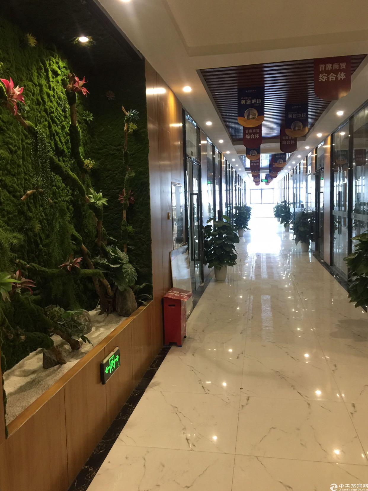 龙华民治地铁站附近楼上300平带豪华装修写字楼出租