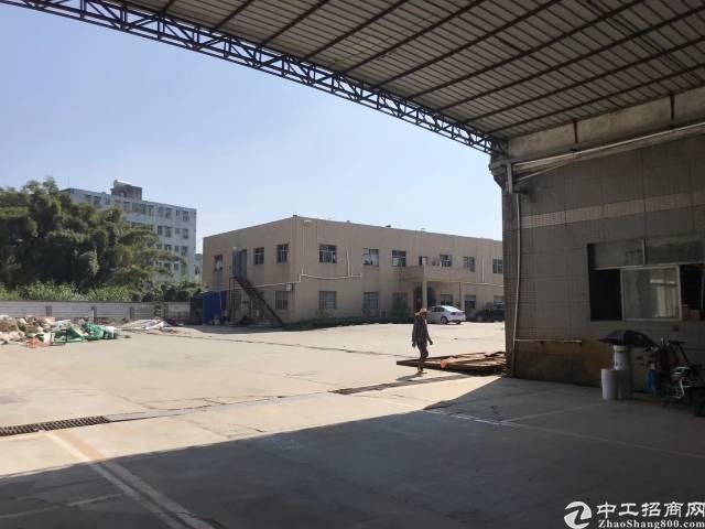 惠州秋长白石原房东独院滴水9米高钢构厂房2800平只租10元