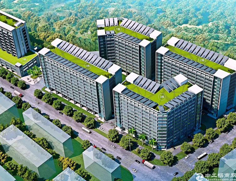 坪地低碳城高端园区精装修写字楼,50平米起租,35块每平米