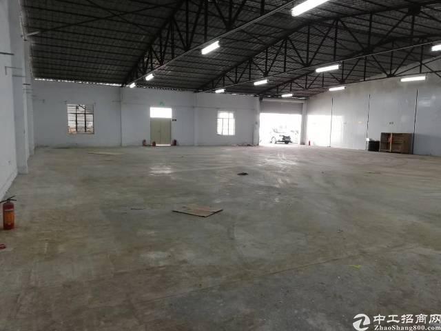 松岗广田路边最新空出单一层小独院钢构厂房1000平米