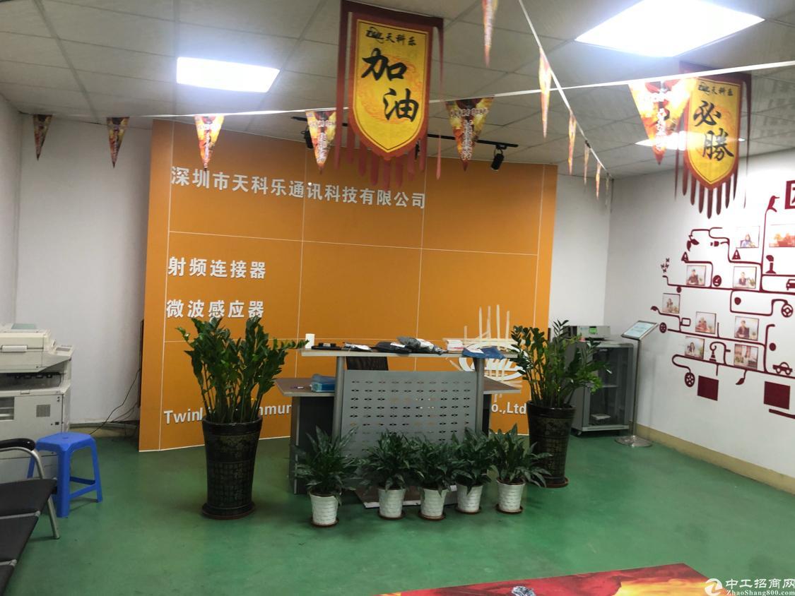 福永桥头地铁口边上楼上新出450平带精装修厂房