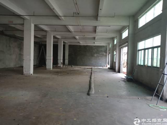 布吉可园旁出1000平厂房一楼,空地大,楼层高,带喷淋