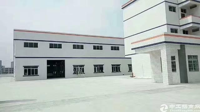 博罗县全新独院砖墙到顶单一层钢构厂房火爆招租