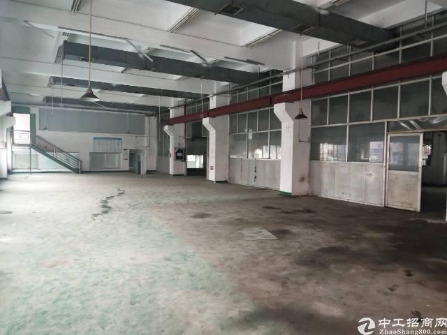 沙井一楼1100平米带牛角厂房出租