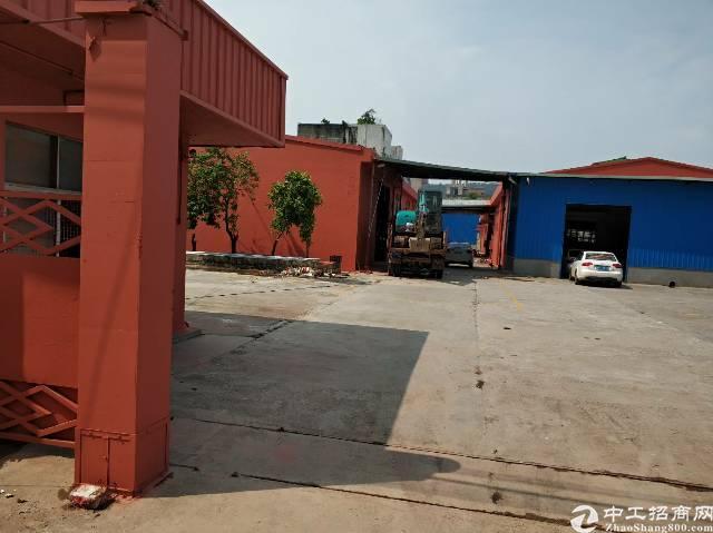 东城同沙工业区环城路边独院带天然气单一层钢构厂房(砖墙到顶)