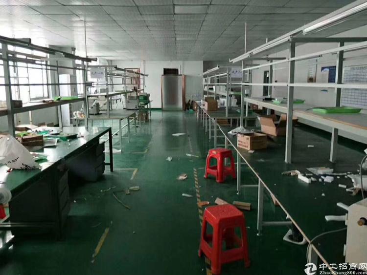 沙井镇后亭工业区新出楼上1000平米带装修出租