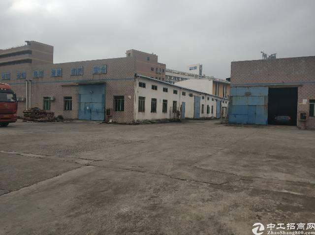 横岗红棉路边工业区内仓库空出1200平可进大货车院子空地大