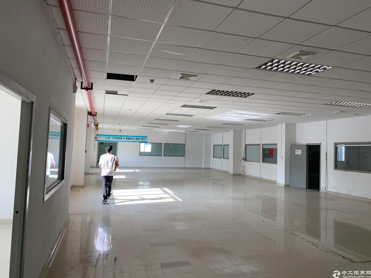 龙胜地铁口龙军工业园新出单层2300平,600平起租,使用高