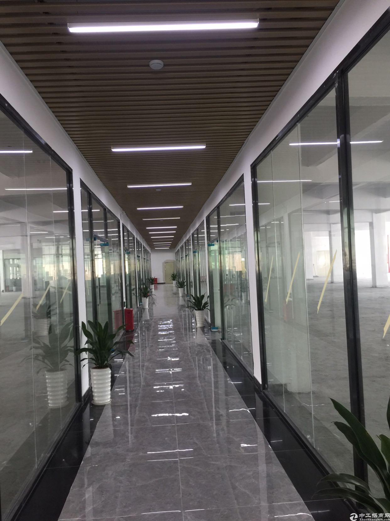 大浪大型园区楼上300平厂房招租带装修