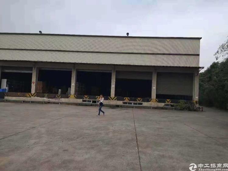 松岗高速出口8000平方原房东一楼物流仓库厂房招租