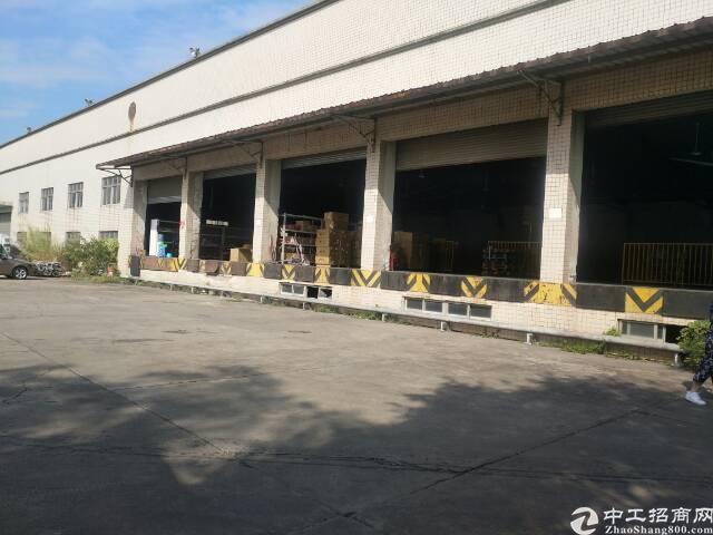 松岗广田路路边14000平方钢构厂房招租