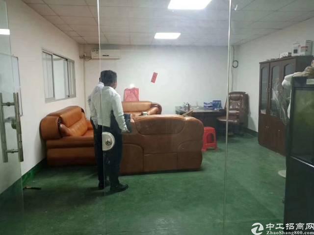 凤岗镇天堂围新出带办公室、地坪漆标准厂房2楼500平