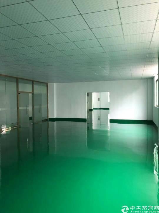 松岗燕川工业区楼上750平米全新装修厂房出租