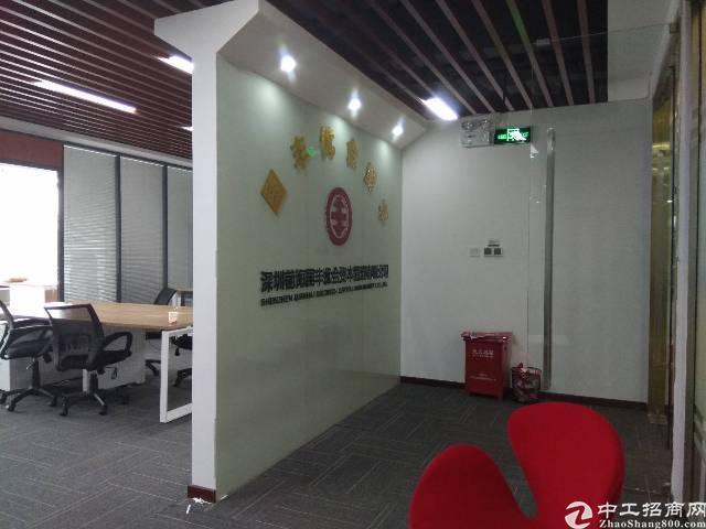 公明红花山公园旁全新精装188平办公室直租