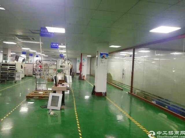 松岗塘下涌大型工业园三楼1500平米精装修厂房出租
